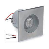 i-LèD - Outlet - Faretto da parete a incasso Quark Quadrato - Faretto a parete o soffitto con ottica basculante