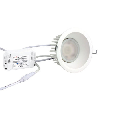 i-LèD - Outlet - Globo Kit+ Plus - Proiettore led a incasso con driver - Bianco RAL 9010 -  - Bianco naturale - 4000 K - 60°