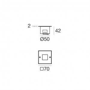 i-LèD - Uplights - Orma - Faretto carrabile Orma-QI - powerLED 3 W 350 mA