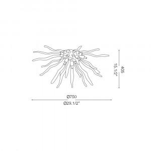 Ideal Lux - Art - CORALLO PL6 - Lampada da soffitto / parete