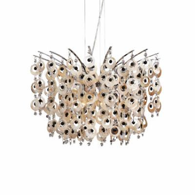 Ideal Lux - Art - PAVONE SP6 - Lampada da soffitto - Cromo - LS-IL-016870