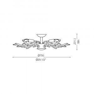 Ideal Lux - Art - SPRING PL5 - Applique / Plafoniera