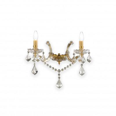 Ideal Lux - Baroque - FLORIAN AP2 - Applique - Oro - LS-IL-035659