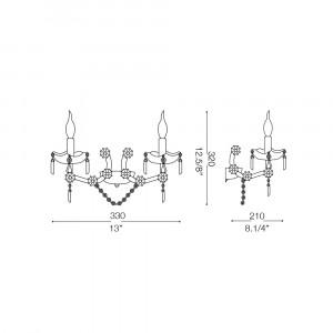 Ideal Lux - Baroque - FLORIAN AP2 - Applique