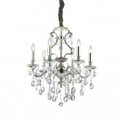 Ideal Lux - Baroque - GIOCONDA SP6 - Lampada a sospensione - Argento - LS-IL-044927