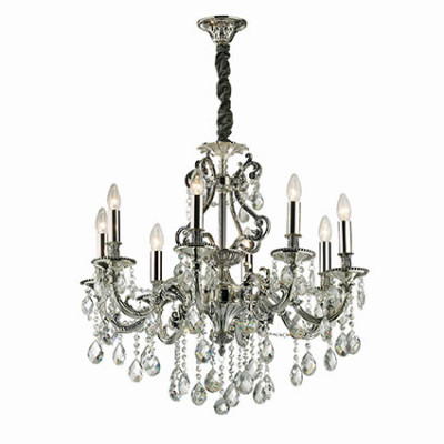 Ideal Lux - Baroque - GIOCONDA SP8 - Lampada a sospensione - Argento - LS-IL-044934
