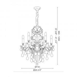 Ideal Lux - Baroque - GIOCONDA SP8 - Lampada a sospensione