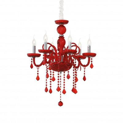 Ideal Lux - Baroque - GIUDECCA SP6 - Lampada a sospensione - Rosso - LS-IL-027418