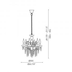 Ideal Lux - Baroque - GIUDECCA SP6 - Lampada a sospensione