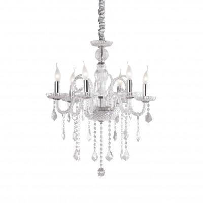 Ideal Lux - Baroque - GIUDECCA SP6 - Lampada a sospensione - Trasparente - LS-IL-027821