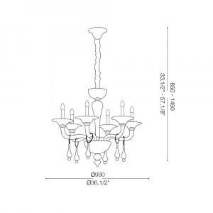 Ideal Lux - Baroque - MIRAMARE SP6 - Lampada a sospensione