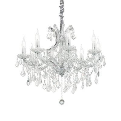 Ideal Lux - Baroque - Napoleon SP8 - Lampada a sospensione - Cromo - LS-IL-167244