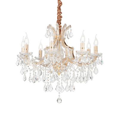 Ideal Lux - Baroque - Napoleon SP8 - Lampada a sospensione - Oro - LS-IL-167398