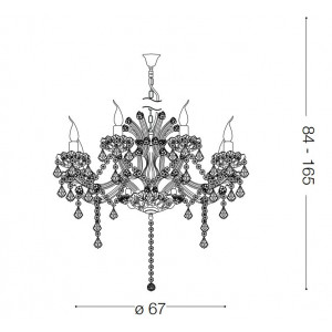 Ideal Lux - Baroque - Napoleon SP8 - Lampada a sospensione