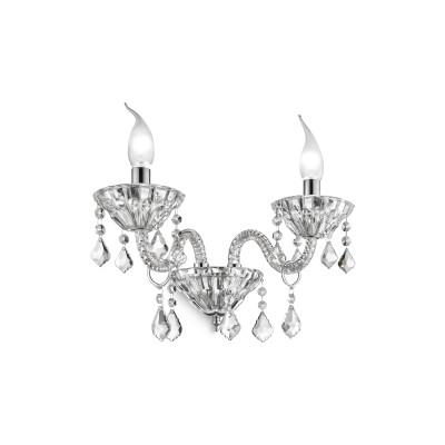 Ideal Lux - Baroque - TIEPOLO AP2 - Applique - Trasparente - LS-IL-034737