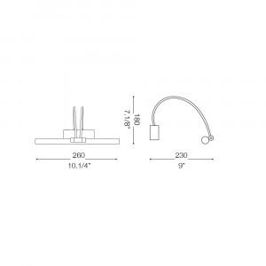 Ideal Lux - Bathroom - BOW AP36 - Applique