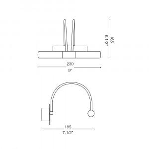 Ideal Lux - Bathroom - DOUBLE AP2 - Applique