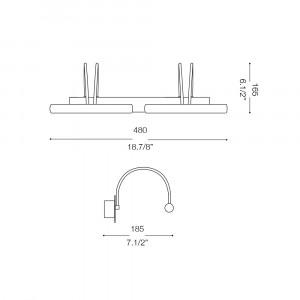 Ideal Lux - Bathroom - DOUBLE AP4 - Applique