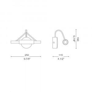 Ideal Lux - Bathroom - LUCCIOLA AP1 - Applique per quadri