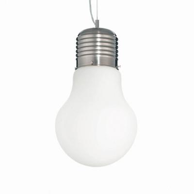Ideal Lux - Bulb - LUCE Bianco SP1 BIG - Lampada a sospensione - Bianco - LS-IL-006840