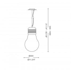 Ideal Lux - Bulb - LUCE Bianco SP1 BIG - Lampada a sospensione
