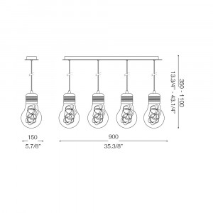 Ideal Lux - Bulb - LUCE MAX SB4 - Lampada a sospensione