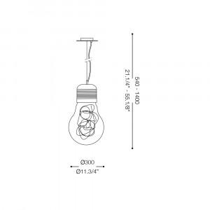 Ideal Lux - Bulb - LUCE MAX SP1 BIG - Lampada a sospensione