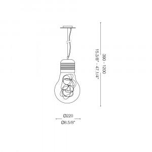 Ideal Lux - Bulb - LUCE MAX SP1 SMALL - Lampada a sospensione