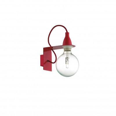 Ideal Lux - Bulb - MINIMAL AP1 - Lampada da parete - Rosso - LS-IL-045221