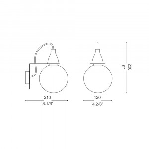 Ideal Lux - Bulb - MINIMAL AP1 - Lampada da parete