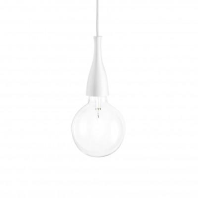 Ideal Lux - Bulb - MINIMAL SP1 - Lampada a sospensione - Bianco - LS-IL-009360