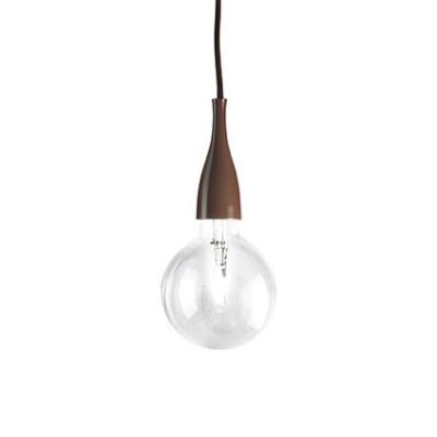 Ideal Lux - Bulb - MINIMAL SP1 - Lampada a sospensione - Marrone - LS-IL-112466