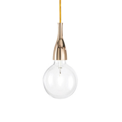 Ideal Lux - Bulb - MINIMAL SP1 - Lampada a sospensione - Oro - LS-IL-009391