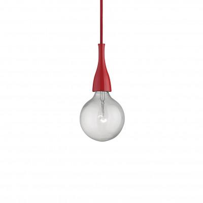 Ideal Lux - Bulb - MINIMAL SP1 - Lampada a sospensione - Rosso - LS-IL-009414