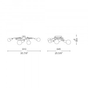 Ideal Lux - Bunch - MELFI PL6 - Applique / Plafoniera