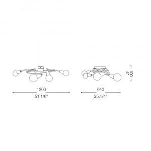 Ideal Lux - Bunch - MELFI PL8 - Applique / Plafoniera