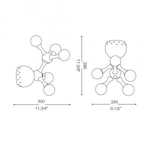 Ideal Lux - Bunch - NODI AP5 - Applique