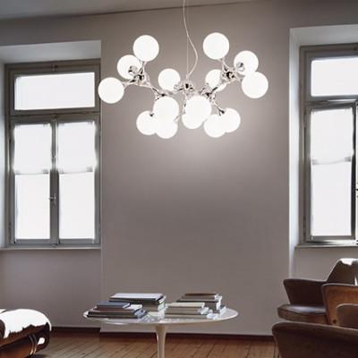 Ideal Lux - Bunch - Nodi SP9 - Sospensione con diffusori in vetro
