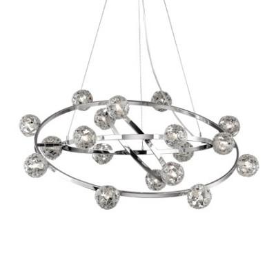 Ideal Lux - Bunch - ORBITAL SP18 - Lampada a sospensione - Cromo - LS-IL-073859