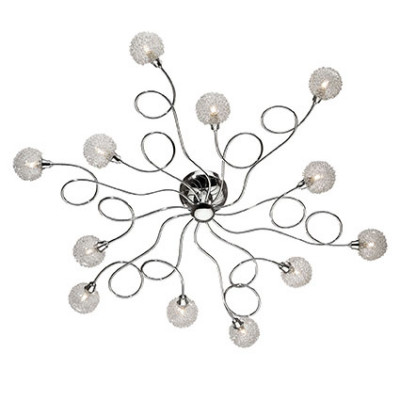 Ideal Lux - Bunch - PON PON PL12 - Lampada da soffitto - Cromo - LS-IL-074641