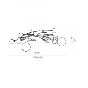 Ideal Lux - Bunch - PON PON PL8 - Lampada da soffitto