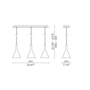 Ideal Lux - Calice - COCKTAIL SB3 SMALL - Sospensione tre luci