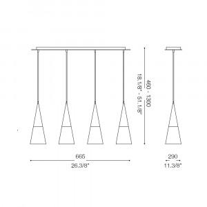 Ideal Lux - Calice - CONO SP4 - Lampada a sospensione