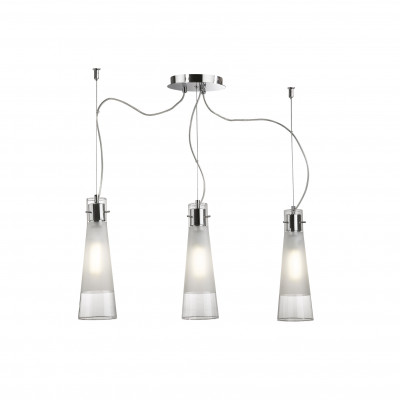 Ideal Lux - Calice - KUKY CLEAR SP3 - Lampada a sospensione - Trasparente - LS-IL-033952