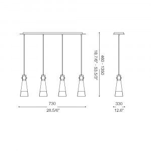 Ideal Lux - Calice - KUKY CLEAR SP4 - Lampada a sospensione