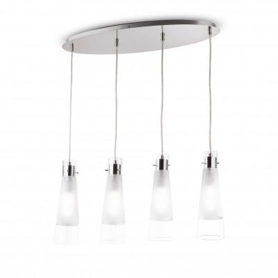Ideal Lux - Calice - KUKY CLEAR SP4 - Lampada a sospensione - Trasparente - LS-IL-023038