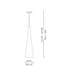Ideal Lux - Calice - MILK SP1 - Lampada a sospensione