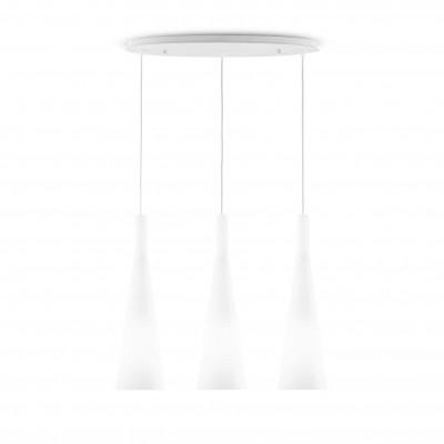 Ideal Lux - Calice - MILK SP3 - Lampada a sospensione - Bianco - LS-IL-030326