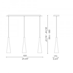 Ideal Lux - Calice - MILK SP3 - Lampada a sospensione