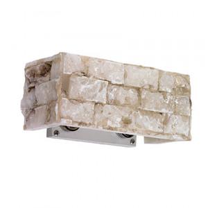 Ideal Lux - Carrara - Carrara AP2 - Applique da 2 luci con diffusore d'alabastro